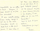 Letter to Phyllis from Gordon - 15th May 1937.Source Goodliff Archive.