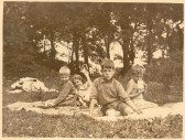 Nephews and neice of Phyllis Goodliff. Left to right, Jeremy and Belinda Theakston and Sandy and Ian Macnab.Source Goodliff Archive.