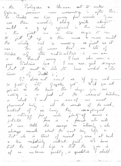 Page 3 of letter from Phyllis to her family.Source Goodliff Archive.
