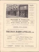 Page 22 Adverts for Richard W  Woolley, draper, outfitter and bootmaker and Freeman, Hardy and Willis for shoes