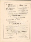 Page 50  Adverts for H Clarabut, Moore & Son, Barrett's, J T Thirtle & Co and Mrs A H Bond of New Inn Hotel