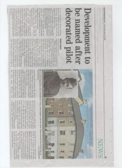 Development in honour of William Rhodes-Moorhouse