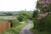 Top of Hurst Lane, looking towards Ely Cathedral.
