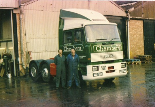 W B Chambers & Son.  Showing Ian Martin and Paul Cornwall workshop fitters.