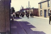Parade through the streets of Little Downham to celebrate the marriage of Prince Charles to Lady Diana Spencer.