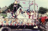 Parade through the streets of Little Downham to celebrate the wedding of Prince Charles to Lady Diana Spencer.