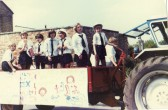 Parade through the streets of Little Dowham to celebrate the wedding of Prince Charles to Lady Diana Spencer.