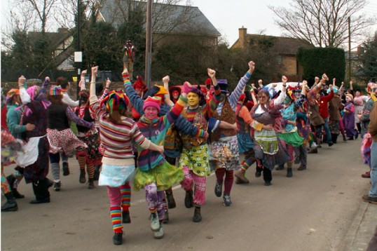 Molly dancers at Little Downham