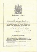 Local Volunteer Force Discharge Certificate