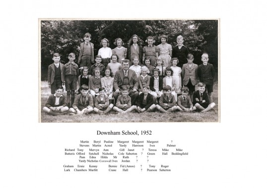 Little Downham Feoffees School class, 1952