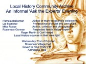 Community Archive Group annual open event.