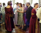Regency Ball. Costumed participants at the Downham Playford Society Ball.