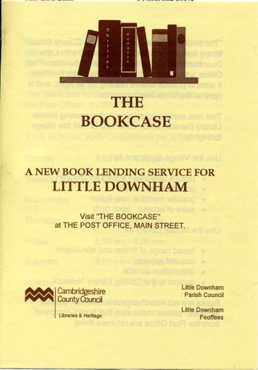Forerunner of the Book Cafe, the 'Bookcase' was situated in the old village store / post office.