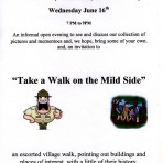Poster for an escorted walk, organised by the Local History Group and conducted by Roger Martin  .
