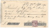 Cheque in final settlrment of sale of 65 Main Street by Elizabeth Hull to William Johnston.