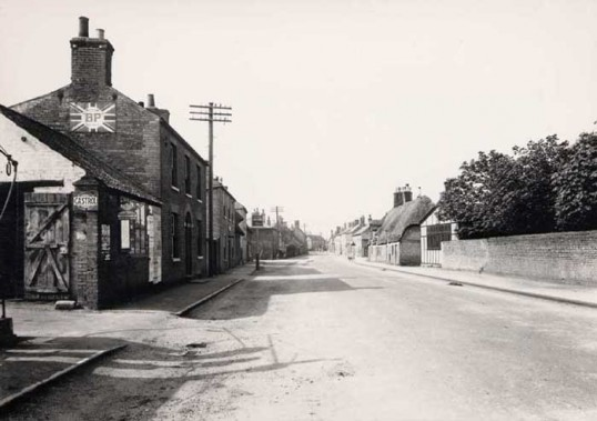 Main Street, Little Downham, looking West. (From the Cambridge Collection)