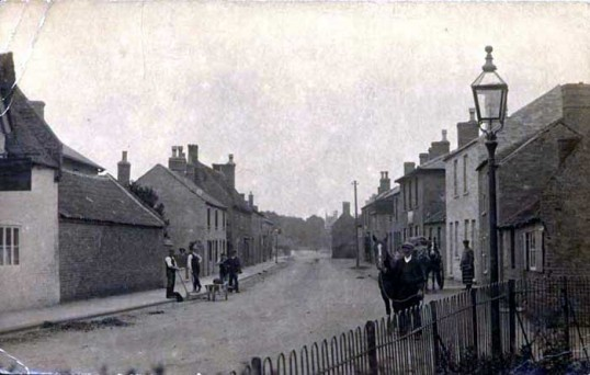 Main Street, Little Downham, looking East. (From the Cambridge Collection)