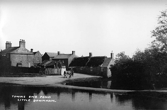Ponds at Cannon Street  and Townsend, Little Downham.. The ponds were eventually filled in, as they were..