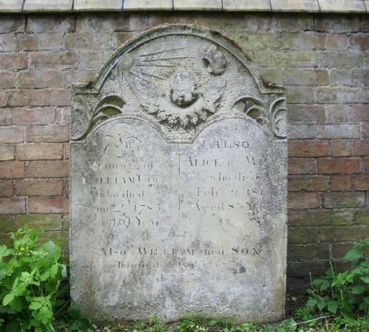Gravestone, St. Leonard's Churchyard, Little Downham. test