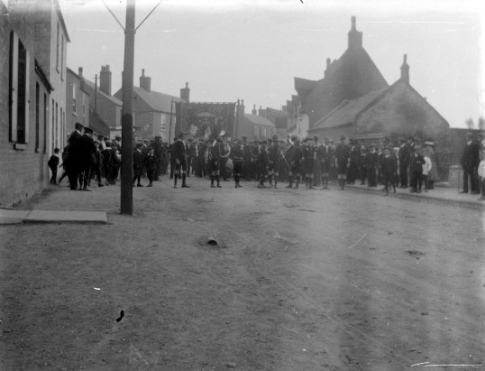 Scout parade, Main Street, Little Downham.