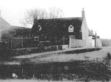 Thatched house at Townsend, Little Downham.. This house was home to Mrs Hilda Parrish (nee Gibson) for..