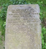 Gravestone, St. Leonard's Churchyard, Little Downham.. IN MEMORY OF WILLIAM COLE WHO DIED MARCH 17TH 1858..