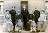 The Hull family outside Pingle House. The Hull family outside Pingle House, their home on..