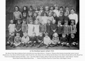 Infant School Class, 1925, Little Downham.. The teacher, recorded as Miss Foot, was actually Mrs...