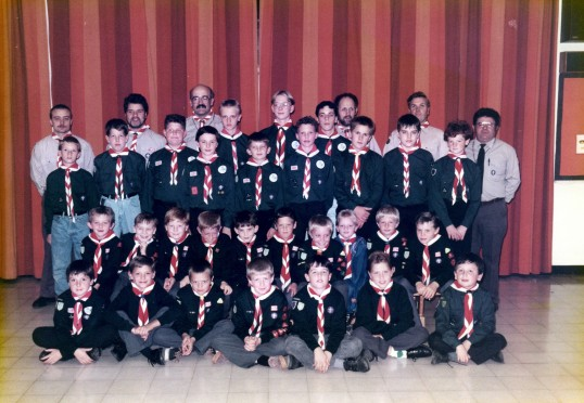 Scout Troop, Little Downham(Named on next picture). A picture of Downham's thriving scout troop. As with so..