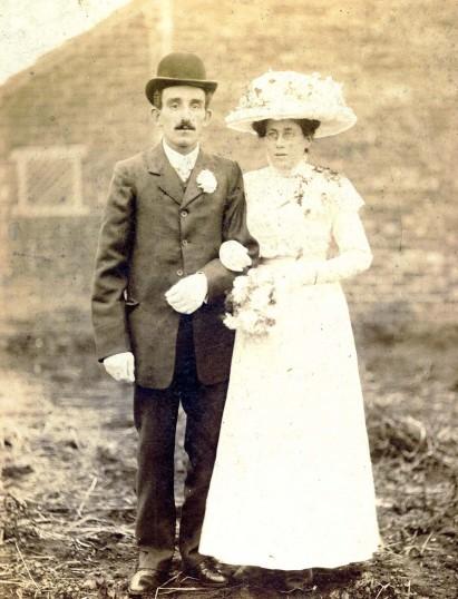 Wedding of Rebecca (Annie) Waddelow  and ?  Lythel.