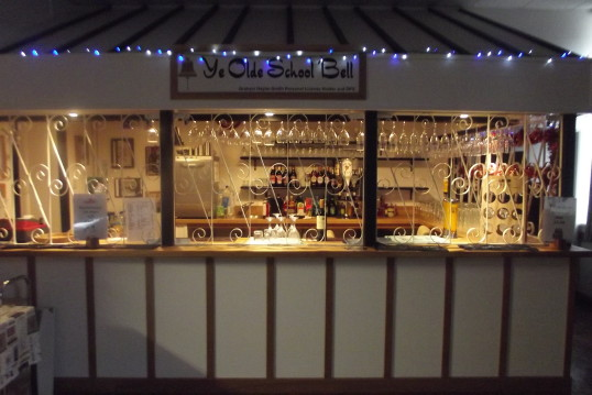The new Bar in the village hall