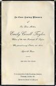 Memorial Card, Emily Taylor.