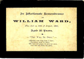 Memorial Card, William Ward.