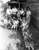 Playgroup children and staff.