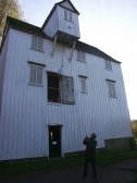 Hauling a bag of wheat into Lode Mill