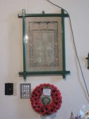 Roll of Honour in St James' Church for those who served in the First World War