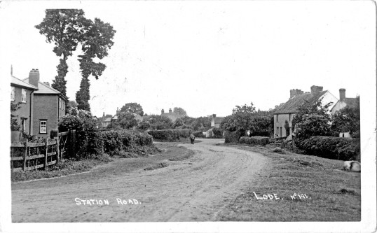 Station Road, Lode. Early 20th century