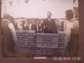 Laying the foundation stones of Lode labour Club