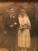 Bill Sargent and Olive Harvey's wedding 1919
