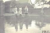 Lode School yard flooded 1918