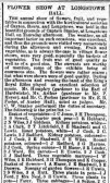 Caxton, Bourn and Longstowe Horticultural Societies Flower Show Aug 1886