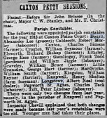 Caxton Petty Sessions- Appointment of Parish Constables  in 1913