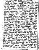 Hall:  Mrs Mary Ann obituary