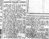 Caxton Police Court Report