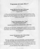 1. Longstowe History Society Programme of Events 2016-2017