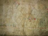 2017.01 Pre Enclosure Map of Longstowe on display at History Society AGM