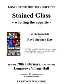 2017.02  Longstowe History Society event 28th Feb 2017. Stained Glass - an illustrated talk by Revd Stephen Day