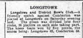 Bowls Match Longstowe vs Comberton
