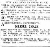 Lower, Bellams and Copy Yard Farm 1925