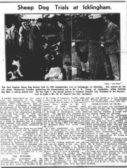 John Kerr Young from Copy Yard Farm wins Sheep Dog Trial in 1938